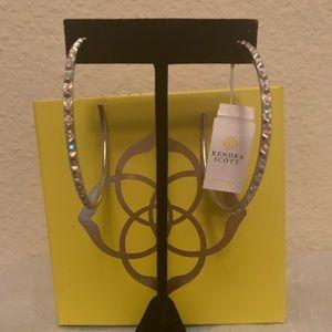 NWT Kendra Scott Val Silver Hoop earrings
